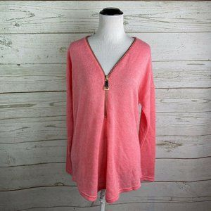 Soft Surroundings Coral Pink Valentina Sweater